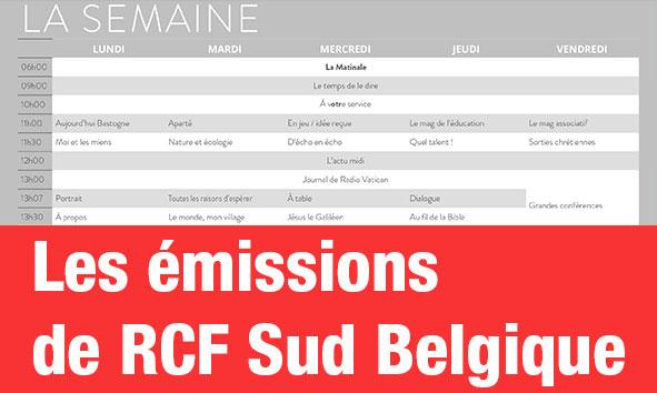 Grille des programmes (Sud Belgique)