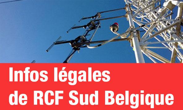 Informations légales (Sud Belgique)