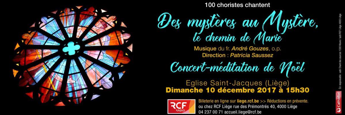 """Concert de Noël à Liège - """"Des mystères au Mystère"""" A. Gouzes"""